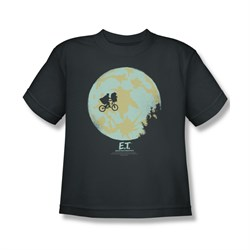 Image of ET Shirts - Extra Terrestrial Shirt Kids In The Moon Charcoal Youth Tee T-Shirt