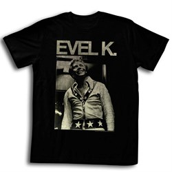 Evel Knievel Shirt Icon Black T-Shirt
