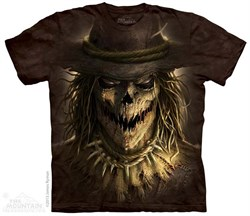 Image of Evil Scare Crow Shirt Tie Dye Adult T-Shirt Tee