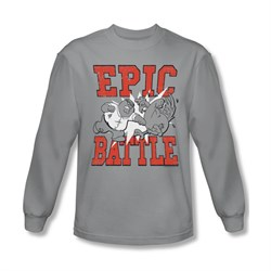Family Guy Shirt Epic Battle Long Sleeve Silver Tee T-Shirt
