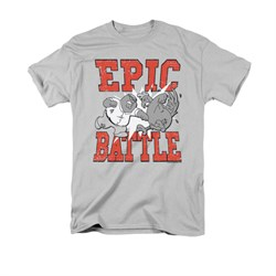 Family Guy Shirt Epic Battle Silver T-Shirt