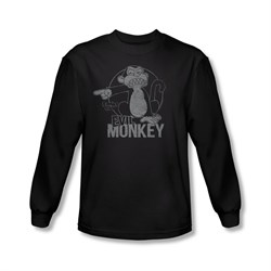 Family Guy Shirt Evil Monkey Long Sleeve Black Tee T-Shirt