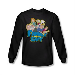 Family Guy Shirt Family Fight Long Sleeve Black Tee T-Shirt