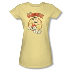Family Guy Shirt Juniors Quagmire Yellow T-Shirt