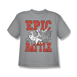 Family Guy Shirt Kids Epic Battle Silver T-Shirt