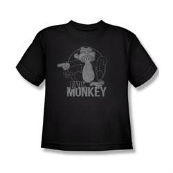 Family Guy Shirt Kids Evil Monkey Black T-Shirt