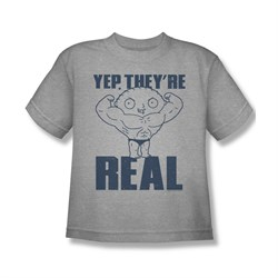Family Guy Shirt Kids They're Real Silver T-Shirt