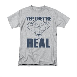 Family Guy Shirt They're Real Silver T-Shirt