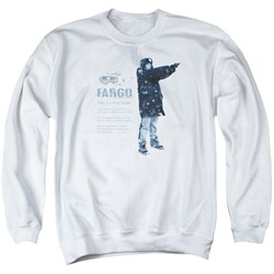 Image of Fargo Sweatshirt This Is A True Story Adult White Sweat Shirt