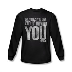 Image of Fight Club Shirt Owning You Long Sleeve Black Tee T-Shirt