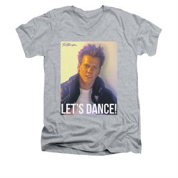 Fight Club Shirt Slim Fit V Neck Lets Dance Athletic Heather Tee T-Shirt