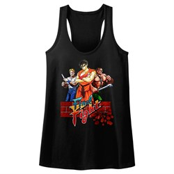 Image of Final Fight Juniors Tank Top Game Black Racerback