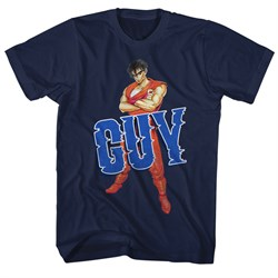 Image of Final Fight Video Game Shirt Guy 2 Navy Blue T-Shirt