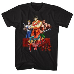 Image of Final Fight Video Game Shirt Logo Black T-Shirt