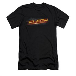 Flash Shirt Slim Fit Logo Black T-Shirt