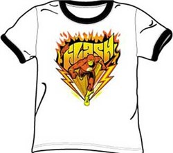 The Flash T-shirt - Blazing Speed Adult White/Black Adult Ringer Tee