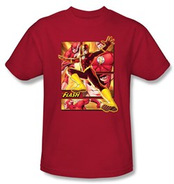 Justice League Superheroes T-shirt ? Flash Adult Red Tee