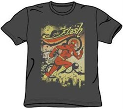 The Flash T-shirt - Just Passing Through Adult Charcoal Tee