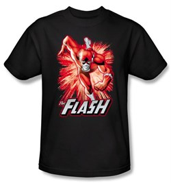 Justice League T-shirt The Flash Red and Gray Black Tee