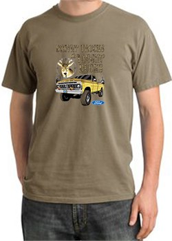 Image of Ford Truck Shirt Driving and Tagging Bucks Pigment Dyed Tee Sandstone