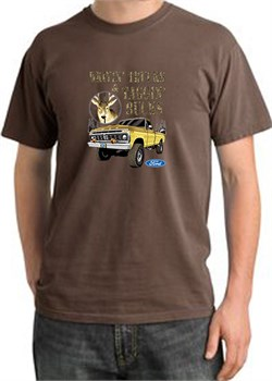 Image of Ford Truck T-Shirt Driving and Tagging Bucks Pigment Dyed Tee Chesnut