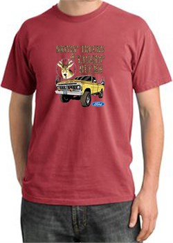 Image of Ford Truck T-Shirt Driving and Tagging Bucks Pigment Dyed Dashing Red