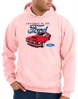 Image of Ford Mustang Hoodie Sweatshirt - Chairman Of The Ford Pink Hoody