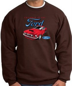 Image of Ford Mustang Sweatshirt - Chairman Of The Ford Adult Brown Sweat Shirt