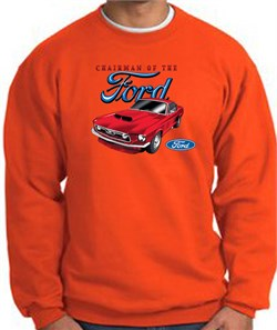 Image of Ford Mustang Sweatshirt - Chairman Of The Ford Orange Sweat Shirt