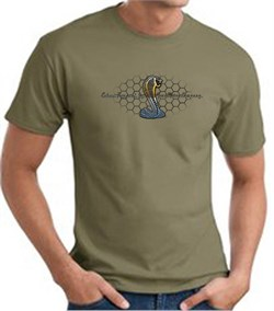 Image of Ford Mustang Cobra T-shirt - Ford Motor Company Grill Army Green Tee