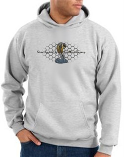 Image of Ford Mustang Cobra Hoodie - Motor Company Grill Adult Ash Hoody