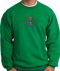 Image of Ford Mustang Cobra Sweatshirt - Motor Company Grill Adult Kelly Green