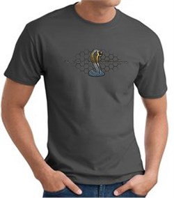 Image of Ford Mustang Cobra T-shirt - Ford Motor Company Grill Charcoal Tee