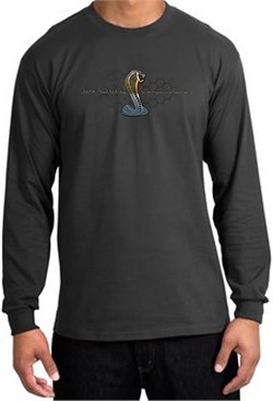 Image of Ford Mustang Cobra Long Sleeve Shirt - Ford Motor Grill Charcoal Tee