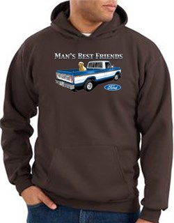 Image of Ford Trucks Hoodie Mans Best Friend Brown Hoody