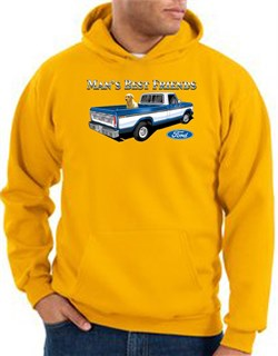 Image of Ford Trucks Hoodie Mans Best Friend Gold Hoody