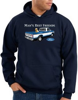 Image of Ford Trucks Hoodie Mans Best Friend Navy Hoody