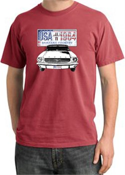 Mustang | Country | T-Shirt | Shirt | Ford | USA | Dye | Red