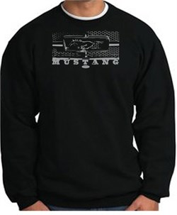 Image of Ford Mustang Sweatshirt Legend Honeycomb Grille Black Sweat Shirt