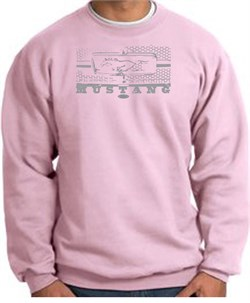 Image of Ford Mustang Sweatshirt Legend Honeycomb Grille Pink Sweat Shirt