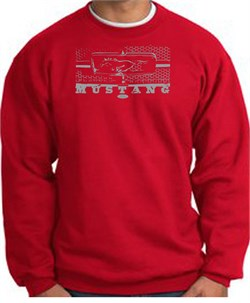 Image of Ford Mustang Sweatshirt Legend Honeycomb Grille Red Sweat Shirt