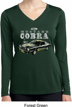 Image of Ford 1974 Cobra Profile Ladies Dry Wicking Long Sleeve Shirt