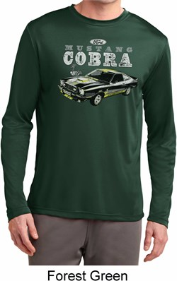 Image of Ford 1974 Cobra Profile Mens Dry Wicking Long Sleeve Shirt