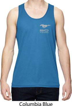 Image of Ford 50 Years Pocket Print Mens Moisture Wicking Tanktop
