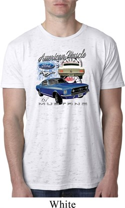 Image of Ford American Muscle 1967 Mustang Mens Burnout Shirt
