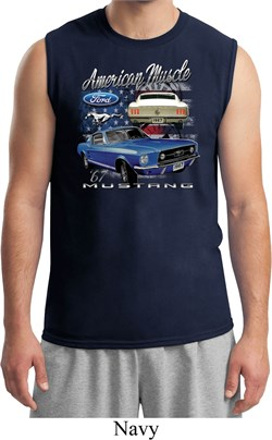 Image of Ford American Muscle 1967 Mustang Mens Muscle Shirt
