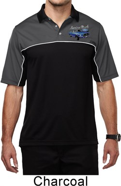 Image of Ford American Muscle 1967 Mustang Pocket Print Mens Polo Shirt