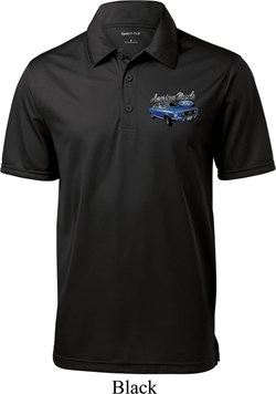 Image of Ford American Muscle 1967 Mustang Pocket Print Mens Textured Polo