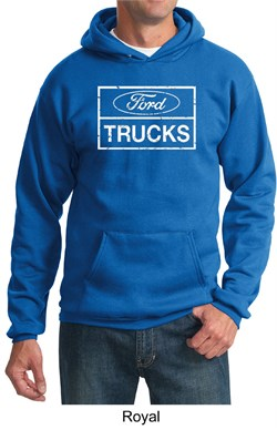 Image of Ford Hoodie Distressed Ford Trucks Classic Adult Hoody