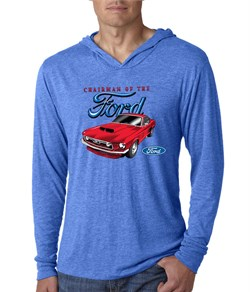 Image of Ford Mustang Mens Shirt Chairman of the Ford Lightweight Hoody Tee